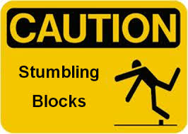 stumbling blocks