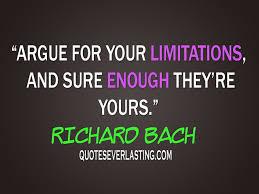 argue for your limitations