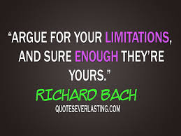 argue for your limitations