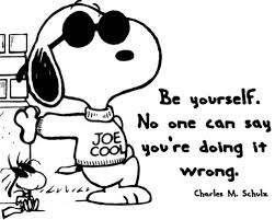 Snoopy trusting who I am