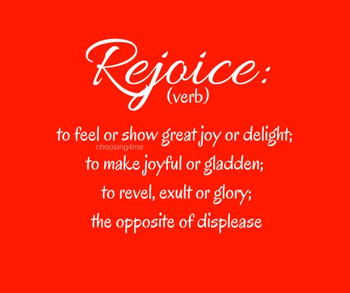 rejoice-verb